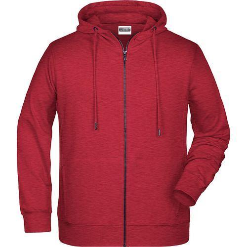 Sweat-shirt capuche Homme - rouge carmin mélangé