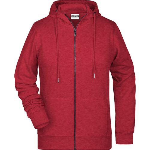 Sweat-shirt capuche Femme - rouge carmin mélangé