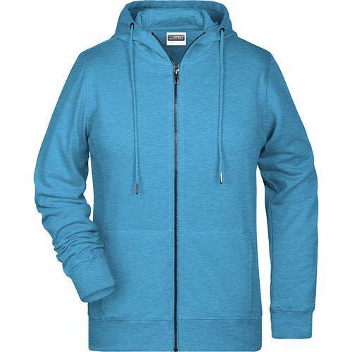 Sweat-shirt capuche Femme - bleu glacier mélangé