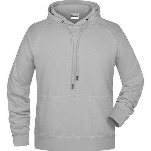 Sweat-shirt capuche Homme - gris chiné