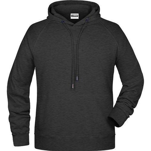 Sweat-shirt capuche Homme - noir chiné