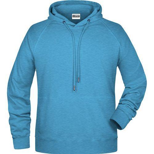 Sweat-shirt capuche Homme - bleu glacier mélangé