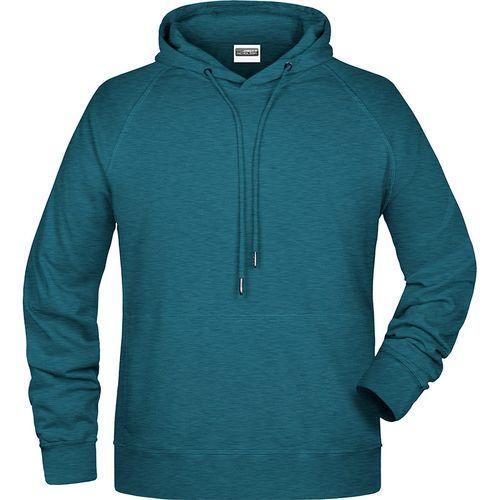 Sweat-shirt capuche Homme - bleu pétrole mélangé