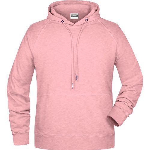 Sweat-shirt capuche Homme - rose mélangé