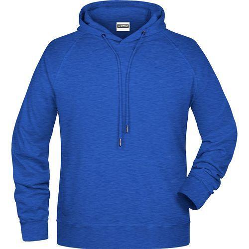 Sweat-shirt capuche Homme - bleu royal chiné