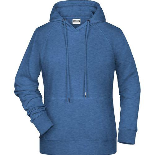 Sweat-shirt capuche Femme - bleu denim clair mélangé