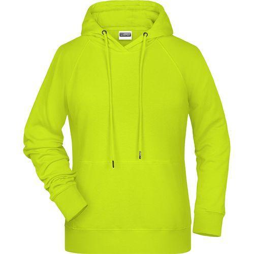 Sweat-shirt capuche Femme - jaune acide