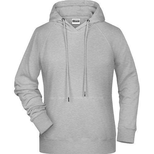 Sweat-shirt capuche Femme - gris chiné