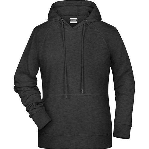 Sweat-shirt capuche Femme - noir chiné