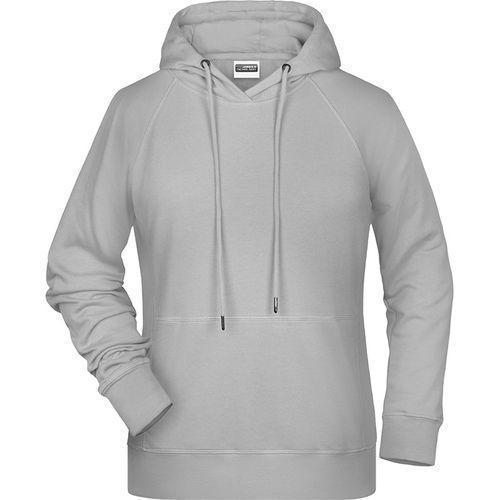 Sweat-shirt capuche Femme - gris clair chiné