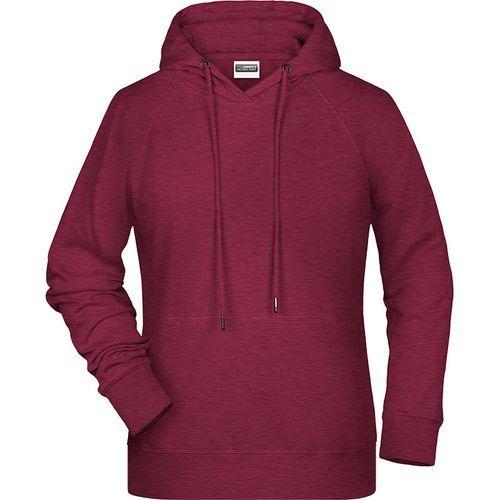 Sweat-shirt capuche Femme - bordeaux mélangé
