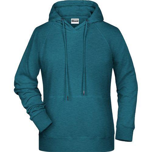 Sweat-shirt capuche Femme - bleu pétrole mélangé