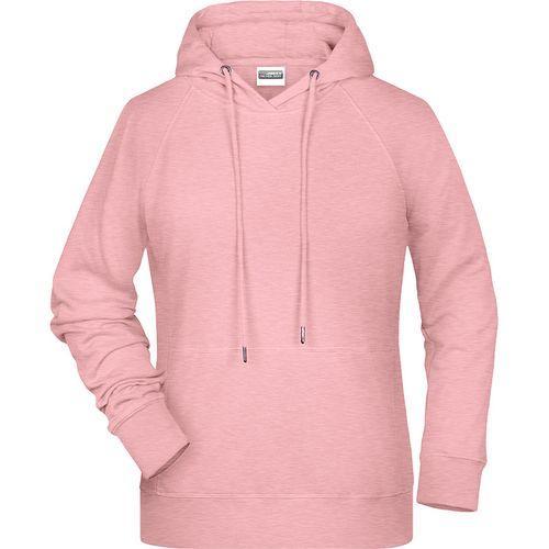 Sweat-shirt capuche Femme - rose mélangé