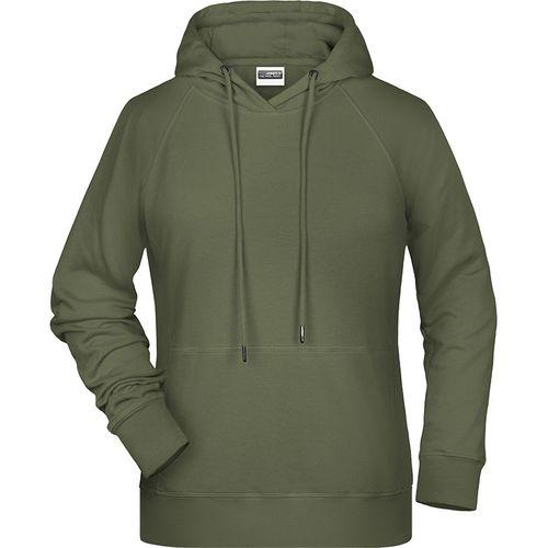 Sweat-shirt capuche Femme - olive