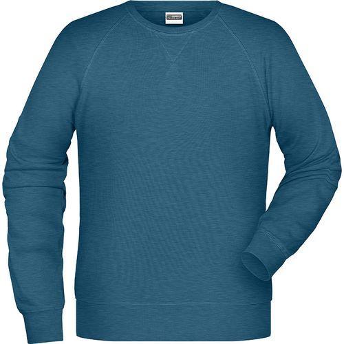 Sweat-Shirt Homme - bleu pétrole mélangé