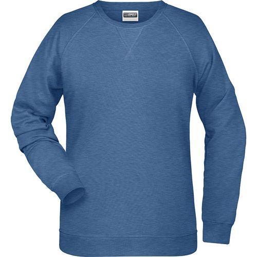 Sweat-Shirt Femme - bleu denim clair mélangé