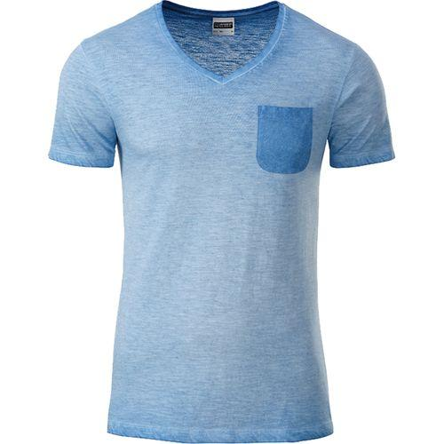 T-shirt bio Homme - bleu horizon