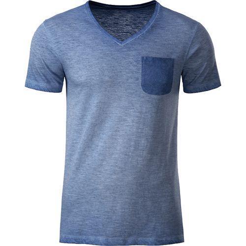 T-shirt bio Homme - bleu denim