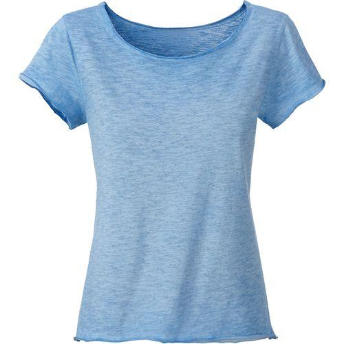 T-shirt bio Femme - bleu horizon