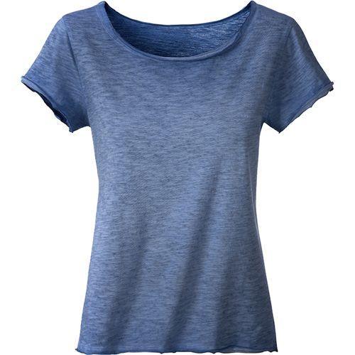 T-shirt bio Femme - bleu denim