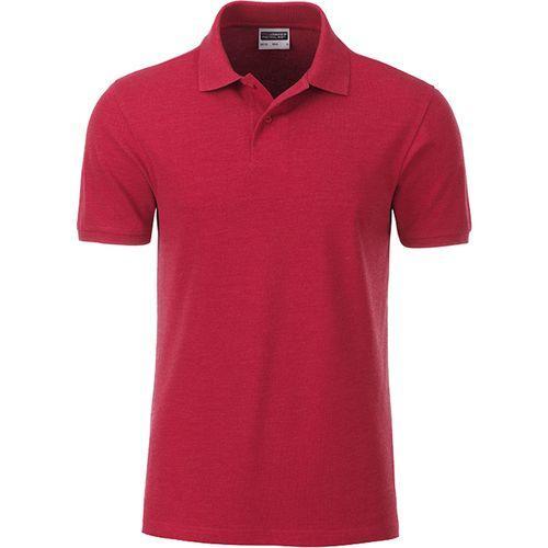 Polo classique Bio Homme - rouge carmin mélangé