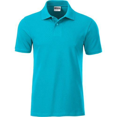 Polo classique Bio Homme - turquoise
