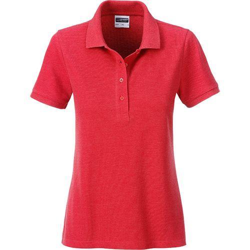 Polo classique Bio Femme - rouge carmin mélangé