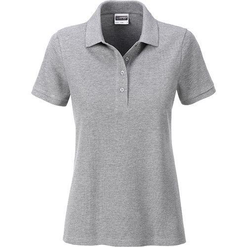 Polo classique Bio Femme - gris chiné