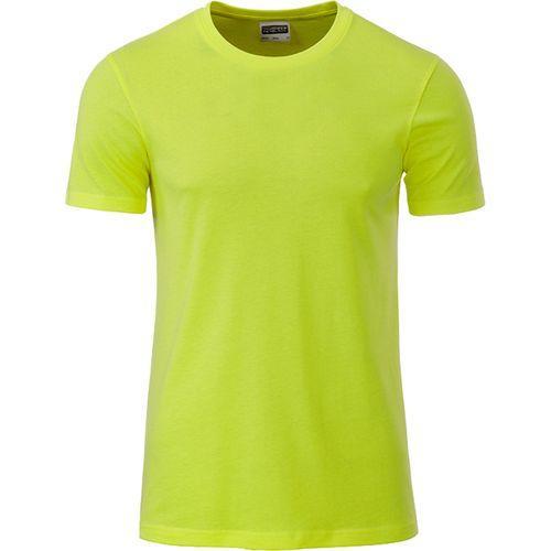 T-shirt bio Homme - jaune acide
