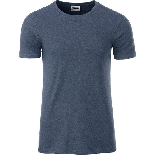 T-shirt bio Homme - bleu denim clair mélangé