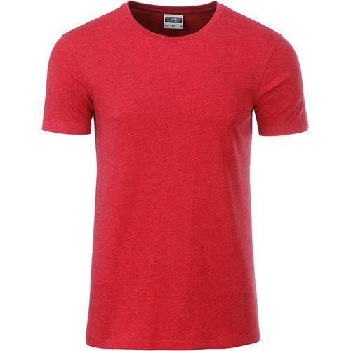 T-shirt bio Homme - rouge carmin mélangé