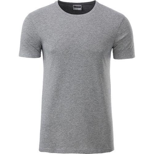 T-shirt bio Homme - gris foncé chiné
