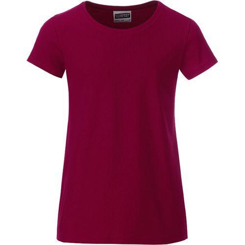 T-shirt bio Enfant - lie de vin