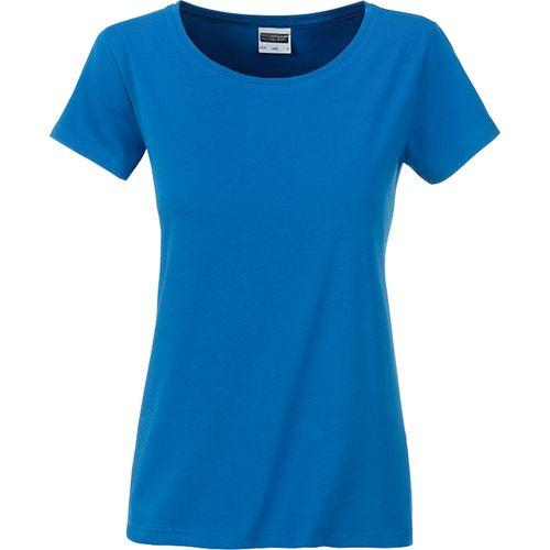 T-shirt bio Femme - bleu cobalt