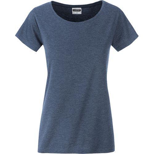 T-shirt bio Femme - bleu denim clair mélangé