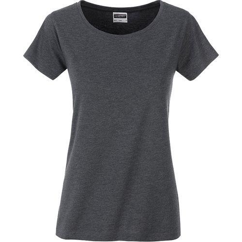 T-shirt bio Femme - noir chiné