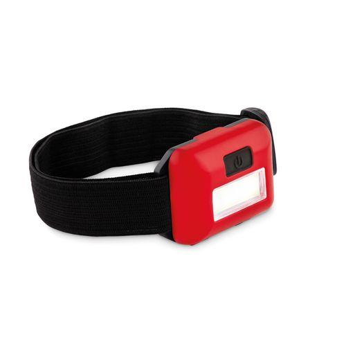Lampe frontale COB. - rouge