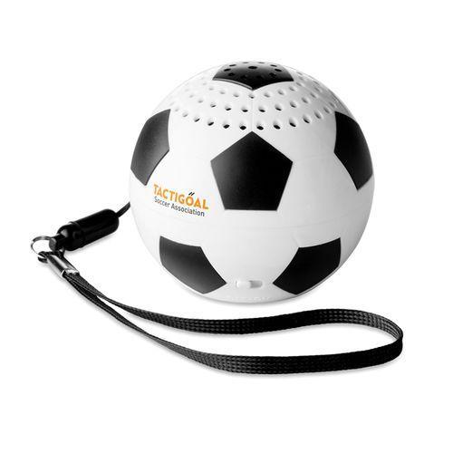 Haut parleur  ballon de foot - noir