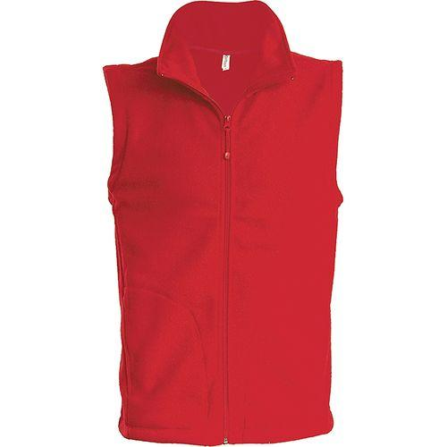 LUCA > GILET MICROPOLAIRE - rouge