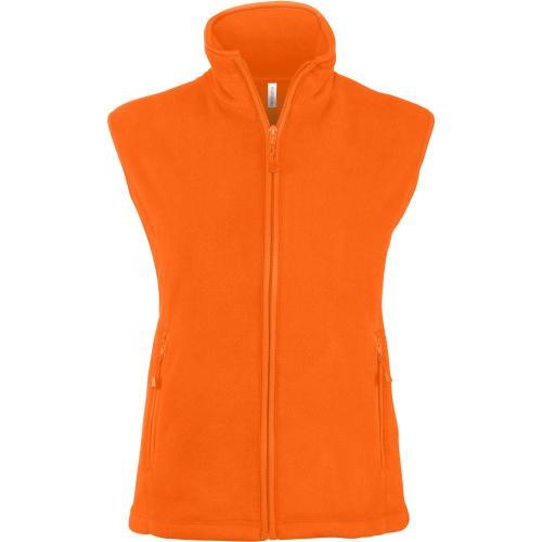 MÉLODIE > GILET MICROPOLAIRE FEMME - orange fluo