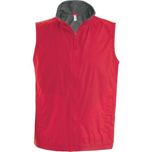 RECORD > BODYWARMER DOUBLÉ POLAIRE - rouge