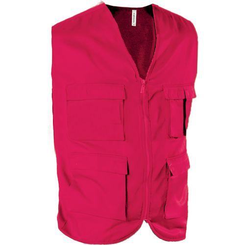 GILET MULTIPOCHES NON DOUBLÉ - rouge