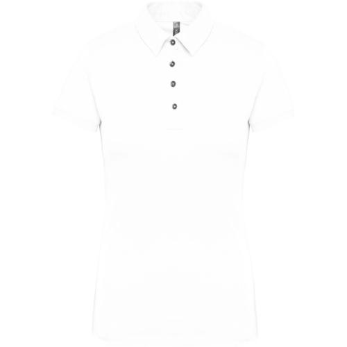 Polo jersey manches courtes femme - blanc