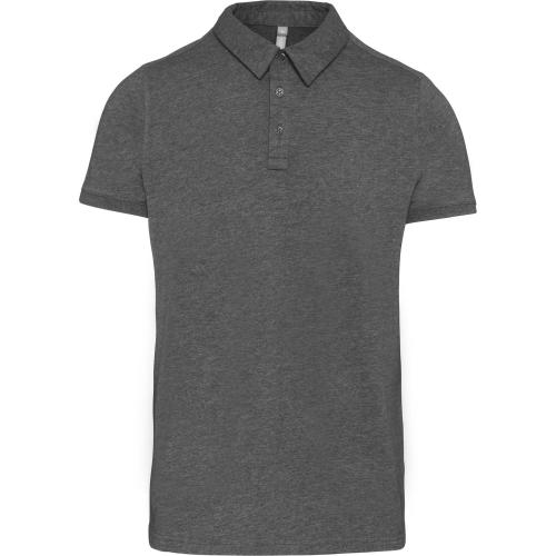 Polo jersey manches courtes homme - gris chiné