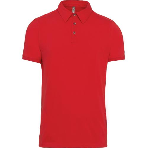 Polo jersey manches courtes homme - rouge