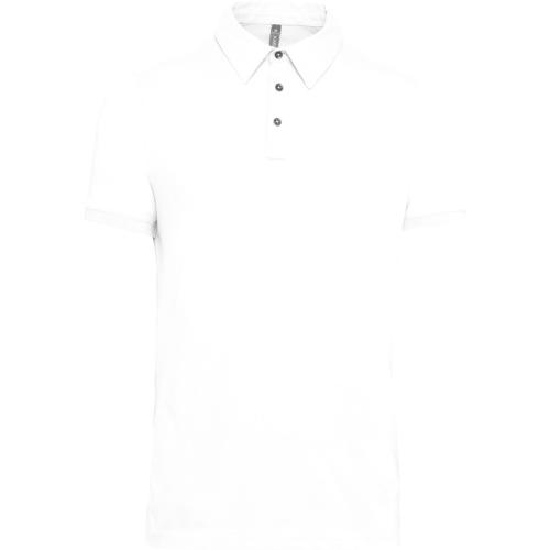 Polo jersey manches courtes homme - blanc