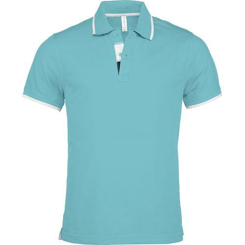 POLO MANCHES COURTES - turquoise clair