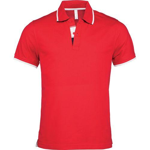 POLO MANCHES COURTES - rouge