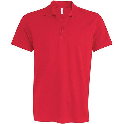 MIKE > POLO MANCHES COURTES - rouge