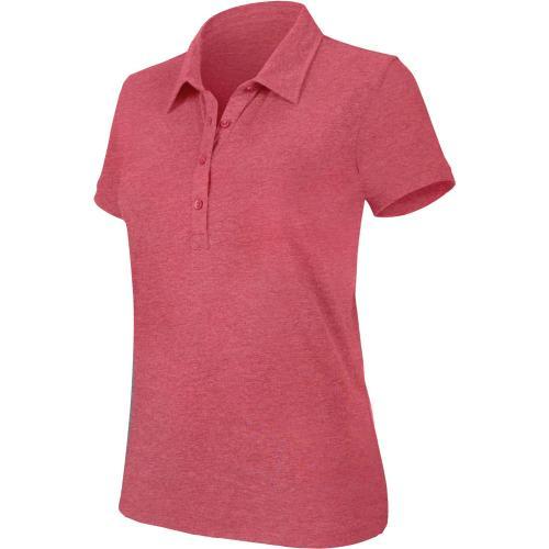 """Polo manches courtes """"mélange"""" femme - rouge chiné"""